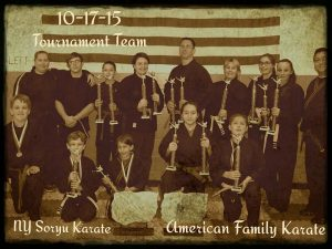 American Family Karate Tournament team for October 17, 2105