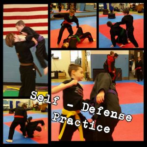 Self-Defense Practice at American Family Karate